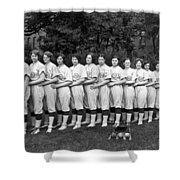 Women's Baseball Team Shower Curtain