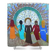 Women's Circle Mandala Shower Curtain