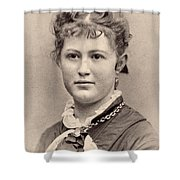 Women's Hairstyle, C1890 Shower Curtain