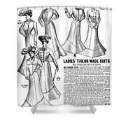 Women's Wear, 1902 Shower Curtain