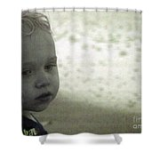 Wonder In Black And White Shower Curtain