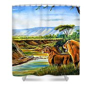 Wonder Of The Great Migration Shower Curtain