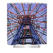 Wonder Wheel 2013 - Coney Island - Brooklyn - New York Shower Curtain