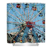 Wonder Wheel Of Coney Island Shower Curtain