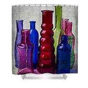 Wonderful Glass Bottles Shower Curtain