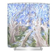 Wondering Through Trees Shower Curtain