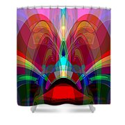 612 - Wondrous Machine Outburst  Shower Curtain