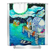 Woobies Character Baby Art Colorful Whimsical Design By Romi Neilson Shower Curtain