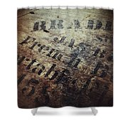 Wood And Ink Shower Curtain