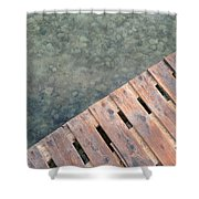 Wood And Sea Shower Curtain