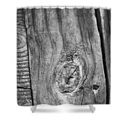 Wood Black And White Shower Curtain