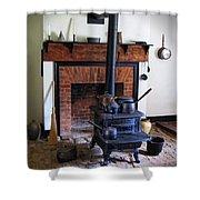 Wood Burning Stove Shower Curtain