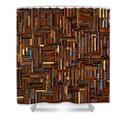 Wood Cuts Shower Curtain