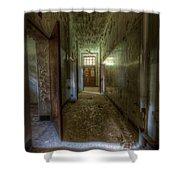 Wood Door Ward Shower Curtain