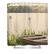 Wood Duck Boxes Shower Curtain