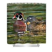 Wood Duck Pair Shower Curtain