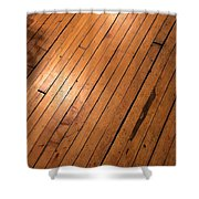 Wood Floor.jpg Shower Curtain