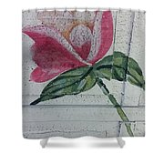 Wood Flower Shower Curtain