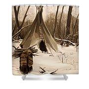 Wood Gatherer Shower Curtain