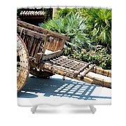 Wood Hand Cart II Shower Curtain