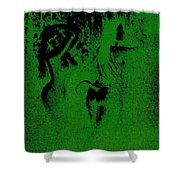 Wood Nymphs In Green Night Sight Shower Curtain