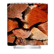Wood Puzzle Shower Curtain