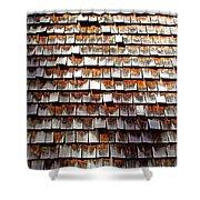 Wood Roof Shingles Shower Curtain