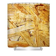 Wood Splinters Background Shower Curtain