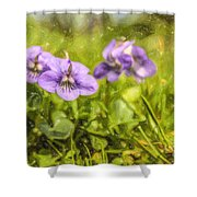 Wood Violet Shower Curtain