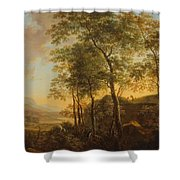 Wooded Hillside With A Vista Shower Curtain