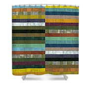 Wooden Abstract Lx Shower Curtain