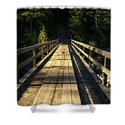 Wooden Bridge Shower Curtain