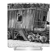 Wooden Caboose Shower Curtain