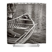 Wooden Canoe Shower Curtain