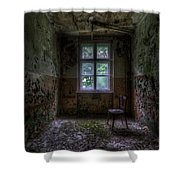Wooden Chair Room Shower Curtain