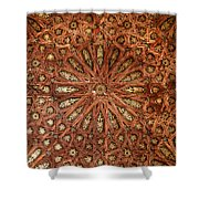 Wooden Coffered Ceiling In The Alhambra Shower Curtain