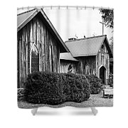 Wooden Country Church 2 Shower Curtain