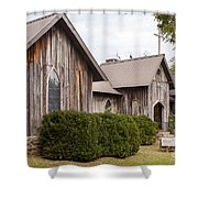 Wooden Country Church Shower Curtain