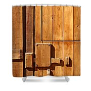 Wooden Door Detail Shower Curtain by Carlos Caetano