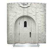 Wooden Door Shower Curtain