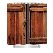 Wooden Doors Shower Curtain