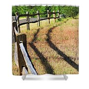 Wooden Fences Shower Curtain
