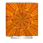 Wooden Flower Shower Curtain