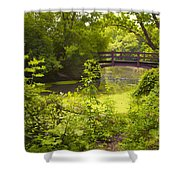 Wooden Foot Bridge Shower Curtain