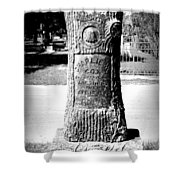 Wooden Grave Shower Curtain
