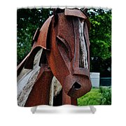 Wooden Horse12 Shower Curtain