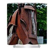 Wooden Horse13 Shower Curtain
