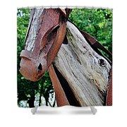 Wooden Horse21 Shower Curtain