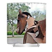 Wooden Horse26 Shower Curtain
