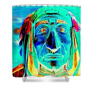 Wooden Indian Shower Curtain